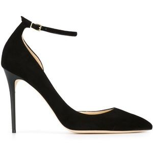 Jimmy Choo Lucy Black Suede Pumps - Size 39